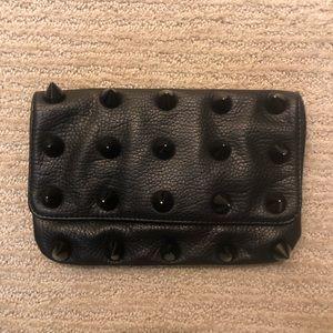 Deux Lux Black stud clutch